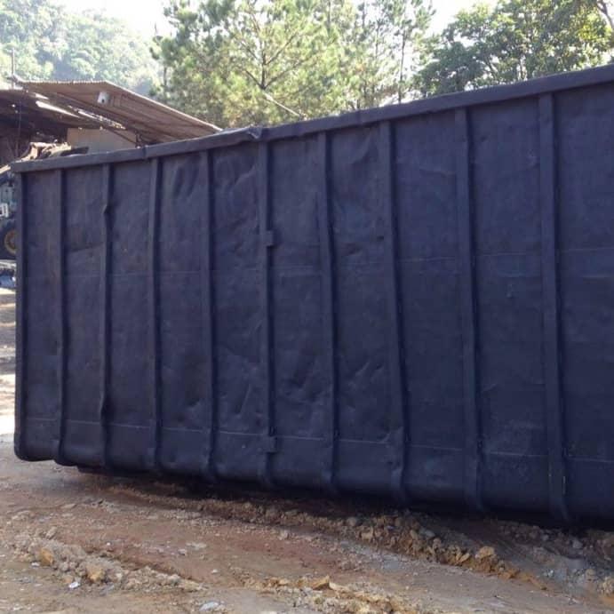 Locação de caçambas de 40m³ resíduos industrias e madeira
