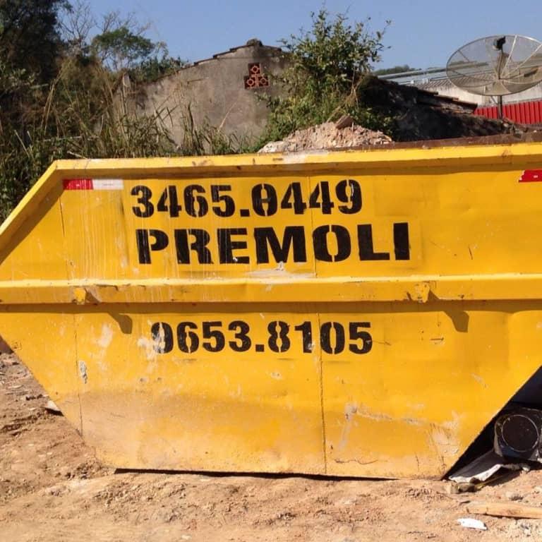 Caçambas 5m³ para entulho e resíduos industriais